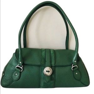 Cole Haan Purse Green Pebbled Leather